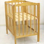 Wオープンママ楽高床ミニベッド-N ナチュラル 大和屋製ベビーベッド